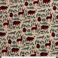 Super Snuggle Flannel Fabric-Pattern Trap Woodland Animals