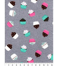 Luxe Flannel Fabric -Cupcakes with Sprinkles