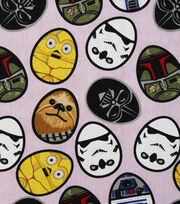 Easter Star Wars Cotton Fabric 44''-Eggs, , hi-res