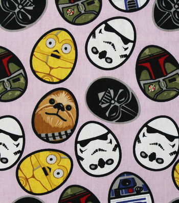 Easter Star Wars Cotton Fabric -Eggs