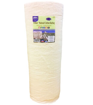 "Pellon Natural Cotton Batting Roll with Scrim 90""x40yd-Needle Punched"