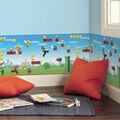 York Wallcoverings Wallpaper Border-Mario Scene