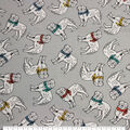 Super Snuggle Flannel Fabric-Dogs And Scarves Tossed
