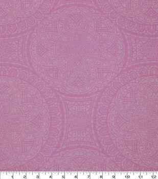 Wide Flannel Fabric-Pink Mediallion
