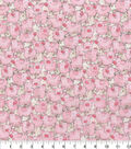 Novelty Cotton Fabric -Watercolor Packed Pigs