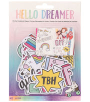 American Crafts Hello Dreamer 41 pk Ephemera Die-Cut Cardstock Shapes, , hi-res