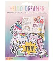 American Crafts Hello Dreamer 41 pk Ephemera Die-Cut Cardstock Shapes, , hi-res