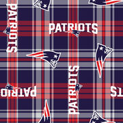 New England Patriots Fleece Fabric -Plaids, , hi-res