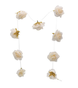 Bloom Room Artisan DIY Rose Floating Garland-Cream