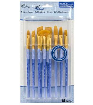 Royal & Langnickel Variety Brush Set 15pk-Golden Taklon