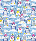 Christmas Snuggle Flannel Fabric-Patterned Trap Penguins