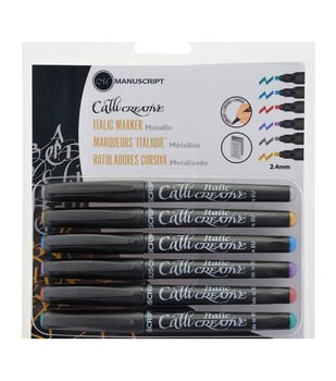 Manuscript CalliCreative Italic Markers 6/Pkg-Metallic - Assorted Colors
