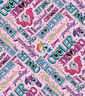 Hasbro My Little Pony Flannel Fabric 42\u0022-Words