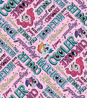 "Hasbro My Little Pony Flannel Fabric 42""-Words, , hi-res"