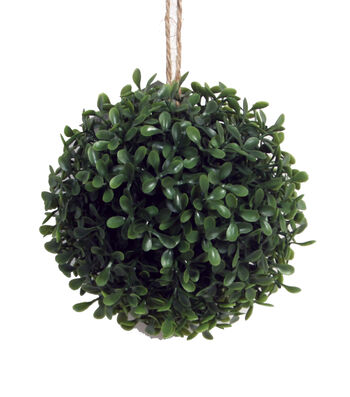 Bloom Room 6'' Soft Touch Boxwood Kissing Ball-Green