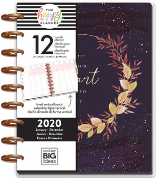 The Happy Planner Classic 2020 Dated Planner-Live With Heart