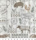 Novelty Cotton Fabric-Farm Fresh Wood