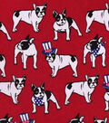 Snuggle Flannel Fabric 42\u0027\u0027-Uncle Sam Bulldog
