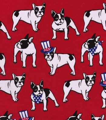 Snuggle Flannel Fabric 42''-Uncle Sam Bulldog