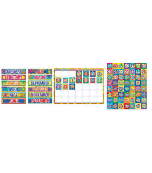 Eureka Calendar Bulletin Board Set-Color My World