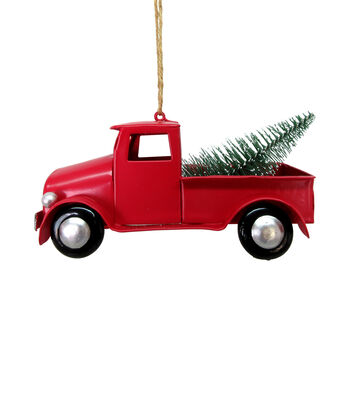 Maker's Holiday Christmas Woodland Lodge Truck Ornament