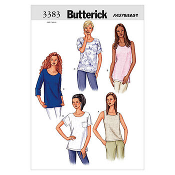 Butterick Misses Top-B3383