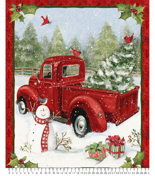 """36"""" Christmas Panel Fabric-Christmas Fun"""