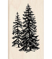 Inkadinkado Rubber Stamp-Pine Trees, , hi-res