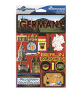 Jet Setters International Dimensional Stickers 4.5\u0022X6.75\u0022-Germany