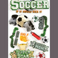 Paper House 3-D Sticker-Soccer
