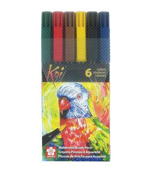 Koi Watercolor Brush Pens 6pk