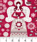 Christmas Cotton Fabric -Angels and Birds