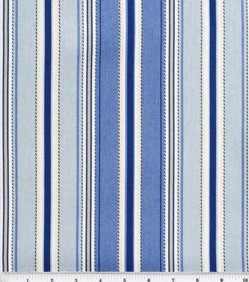 "Home Essentials Lightweight Decor Fabric 45""-Stitch Stripe Seaside"