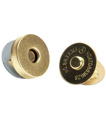 Bag Works Magnetic Purse/Tote Snap 1/Pkg-Gold