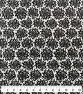 Soft & Comfy Fleece Fabric-Black & White Cloudburst
