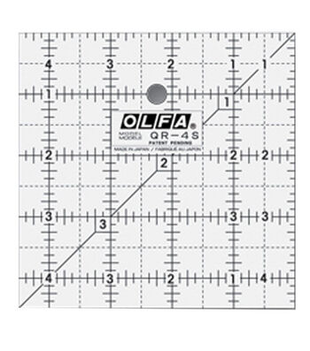 """Olfa Frosted Ruler """"The Charm""""-4-1/2""""x4-1/2"""""""