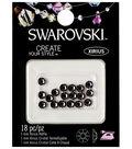 Swarovski 18pc 5mm Xirius Hotfix Crystals-Black