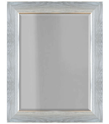 Wood Grain Molded Mirror 16''x20''-Distressed Gray