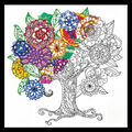Design Works Zenbroidery Stamped Picture Kit-Tree