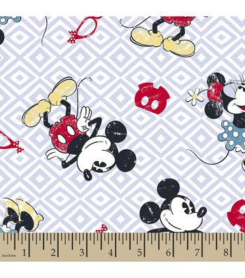 Disney Mickey and Minnie Mouse Print Fabric