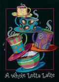 A Whole Lotta Latte Counted Cross Stitch Kit-11\u0022X14\u0022 14 Count