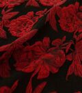 Jacquard Fabric 60\u0022-Red Floral