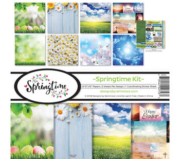 Reminisce Collection Kit 12''X12''-Springtime