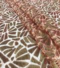Casa Embellish Dahlia Netted Sequin Fabric-Peach