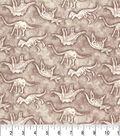 Premium Prints Cotton Fabric 43\u0022-Topographic Dino Bone Map