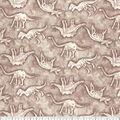 Premium Prints Cotton Fabric-Topographic Map & Dino Bone
