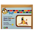 Smart Monkey Toys ImagiBRICKS 24 pk Giant Rainbow Building Blocks