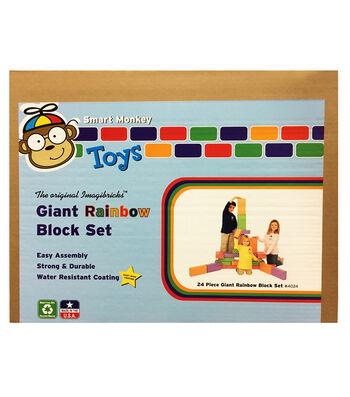 ImagiBRICKS Giant Rainbow Building Block Set, 24 pcs