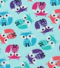 Blizzard Fleece Fabric -Bright Foxes