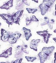 Keepsake Calico Cotton Fabric-Purple Multi Butterfly, , hi-res
